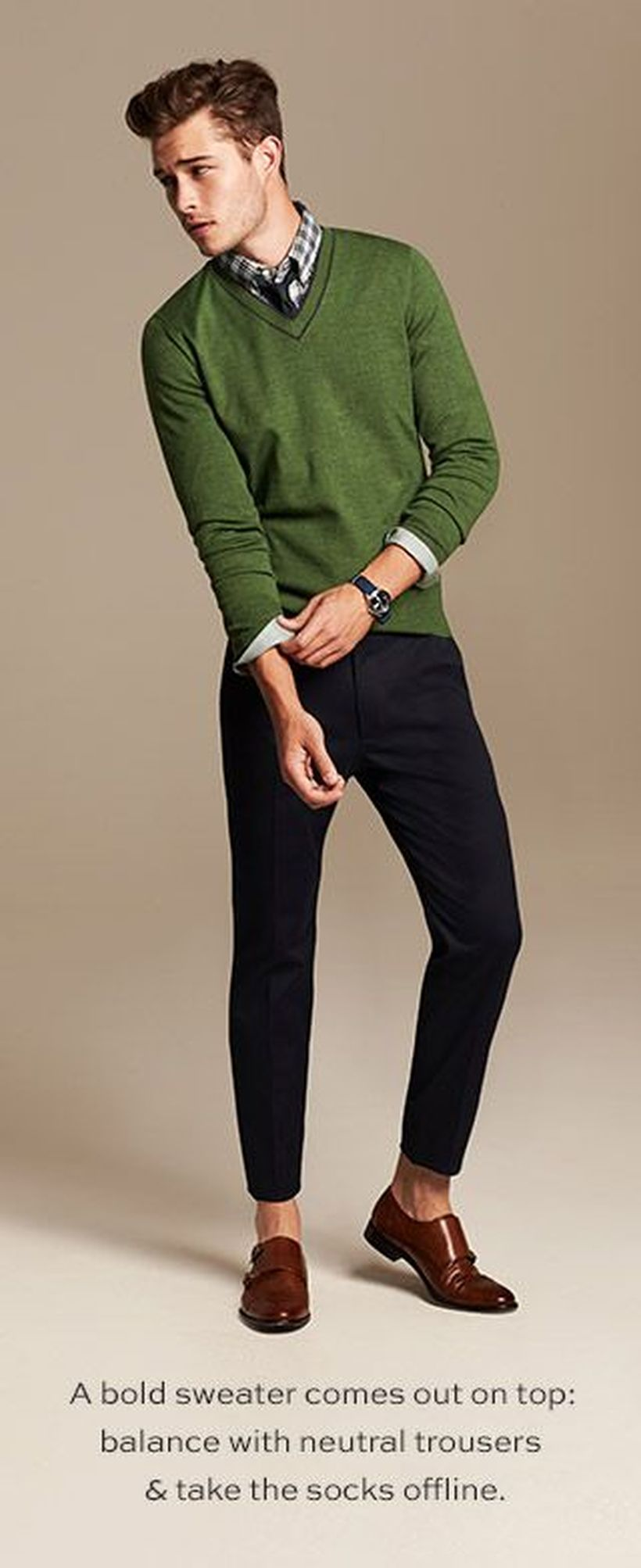 Cool men sweater outfits ideas 2