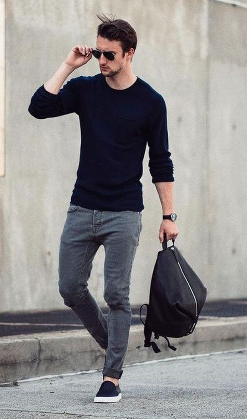 Cool men sweater outfits ideas 25