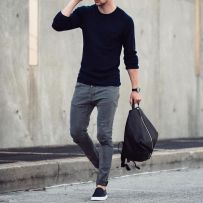 Cool men sweater outfits ideas 42