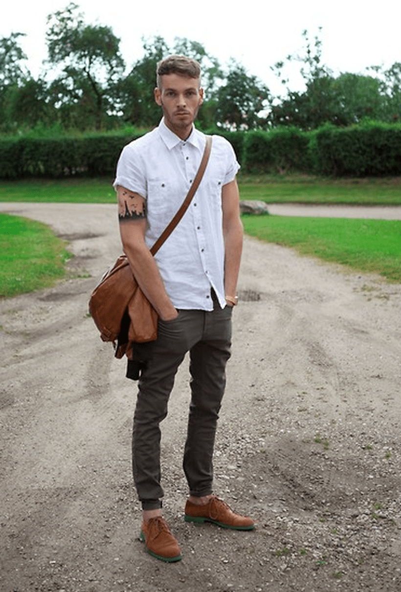 Cool mens joggers outfit ideas 15