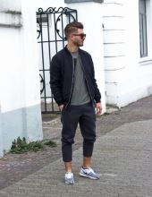 Cool mens joggers outfit ideas 30