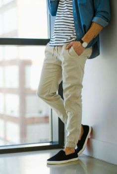 Cool mens joggers outfit ideas 43