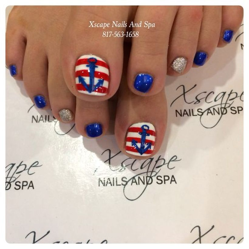 Cool summer pedicure nail art ideas 49