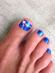 cool summer pedicure nail art ideas