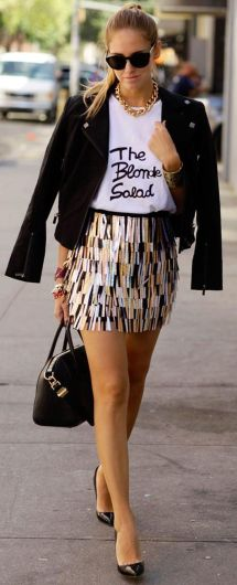 Cool tshirt and skirt for everyday outfits 19