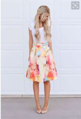 Cool tshirt and skirt for everyday outfits 23