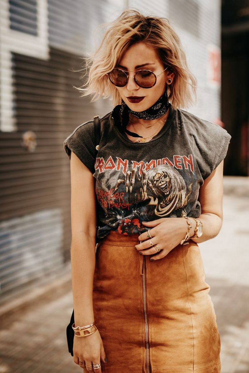 Cool tshirt and skirt for everyday outfits 49