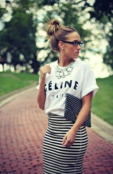 Cool tshirt and skirt for everyday outfits 8