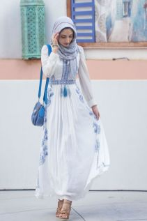 Elegant muslim outift ideas for eid mubarak 15