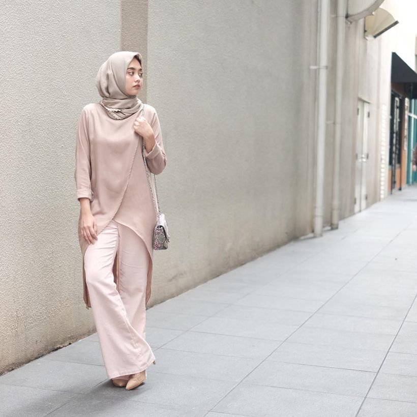 Elegant muslim outift ideas for eid mubarak 31
