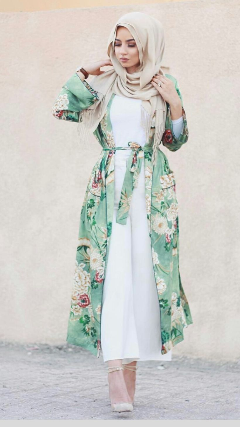 Elegant muslim outift ideas for eid mubarak 35