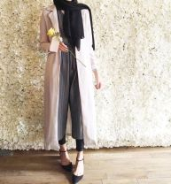 Elegant muslim outift ideas for eid mubarak 42