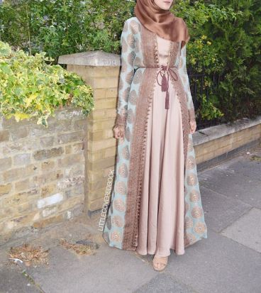 Elegant muslim outift ideas for eid mubarak 49