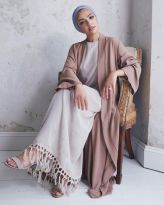 Elegant muslim outift ideas for eid mubarak 56
