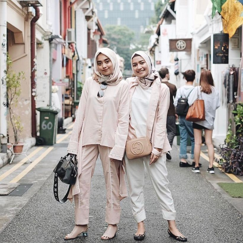 Elegant muslim outift ideas for eid mubarak 59