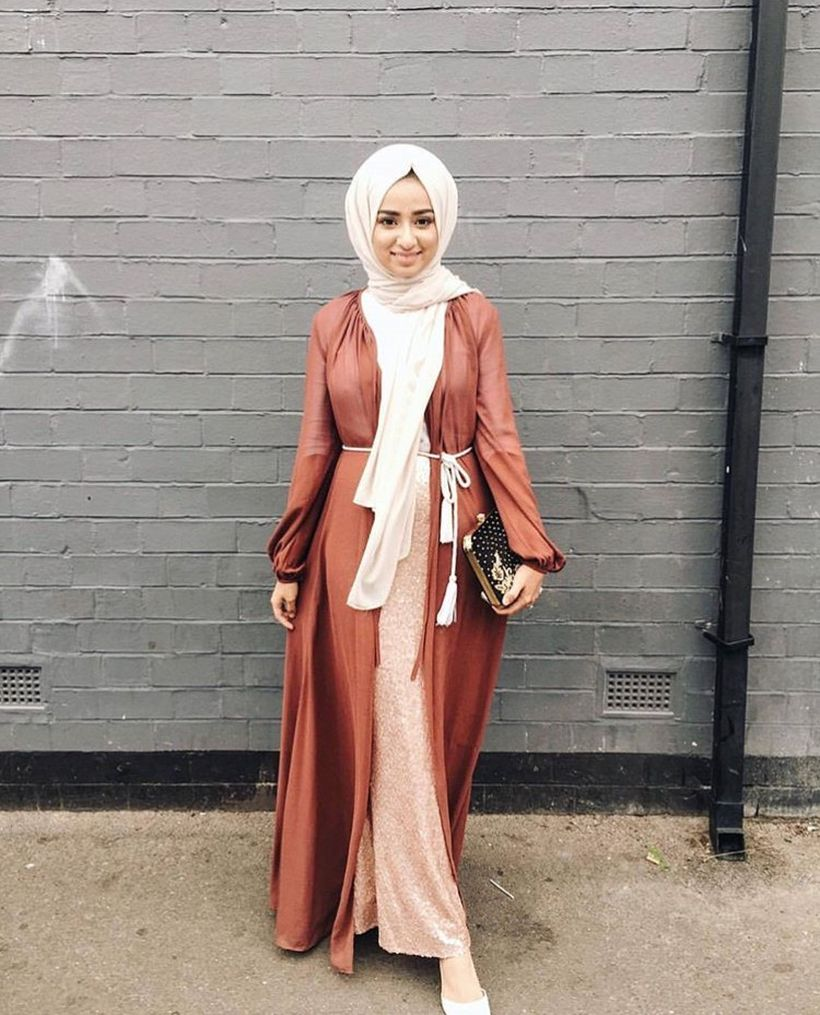 Elegant muslim outift ideas for eid mubarak 68