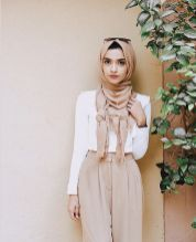 Elegant muslim outift ideas for eid mubarak 79