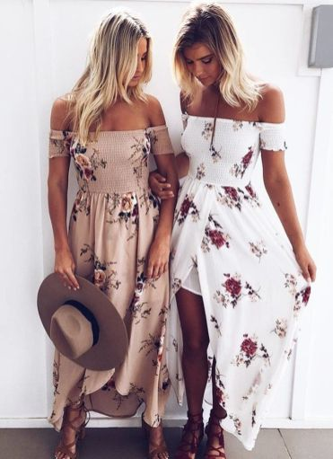 Fabulous boho open shoulder outfits ideas 60