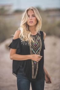 Fabulous boho open shoulder outfits ideas 7