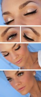 Fabulous look natural green eyes makeup 7