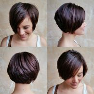 Funky short pixie haircut with long bangs ideas 26