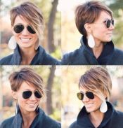 Funky short pixie haircut with long bangs ideas 43