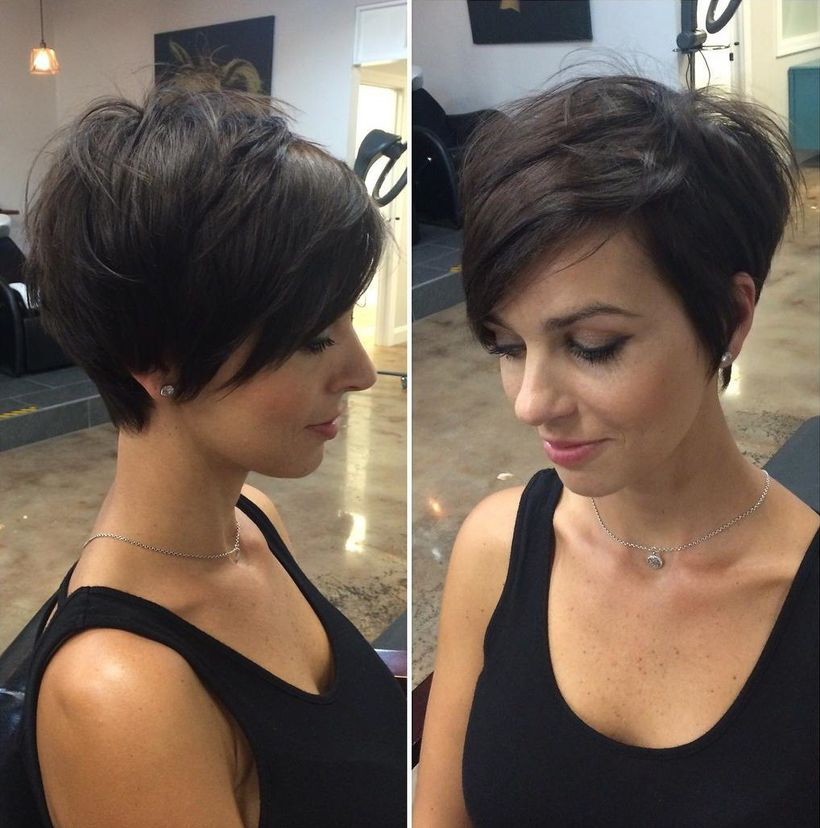 Funky short pixie haircut with long bangs ideas 71