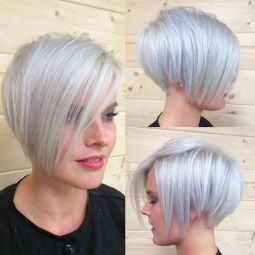 Funky short pixie haircut with long bangs ideas 8