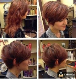 Funky short pixie haircut with long bangs ideas 82