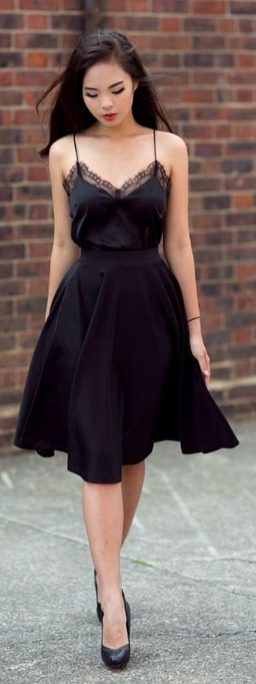 Gorgeous elegance black dress outfits 12