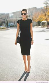 Gorgeous elegance black dress outfits 28