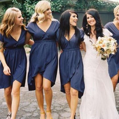 Gorgeous short bridesmaid dresses design ideas 9