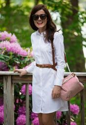 Gorgeous white shirtdresses for summer and spring outfits 1
