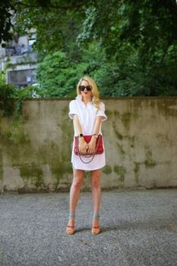 Gorgeous white shirtdresses for summer and spring outfits 20