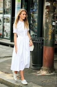 Gorgeous white shirtdresses for summer and spring outfits 21