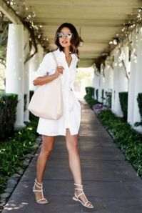 Gorgeous white shirtdresses for summer and spring outfits 23
