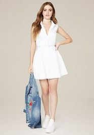 Gorgeous white shirtdresses for summer and spring outfits 24