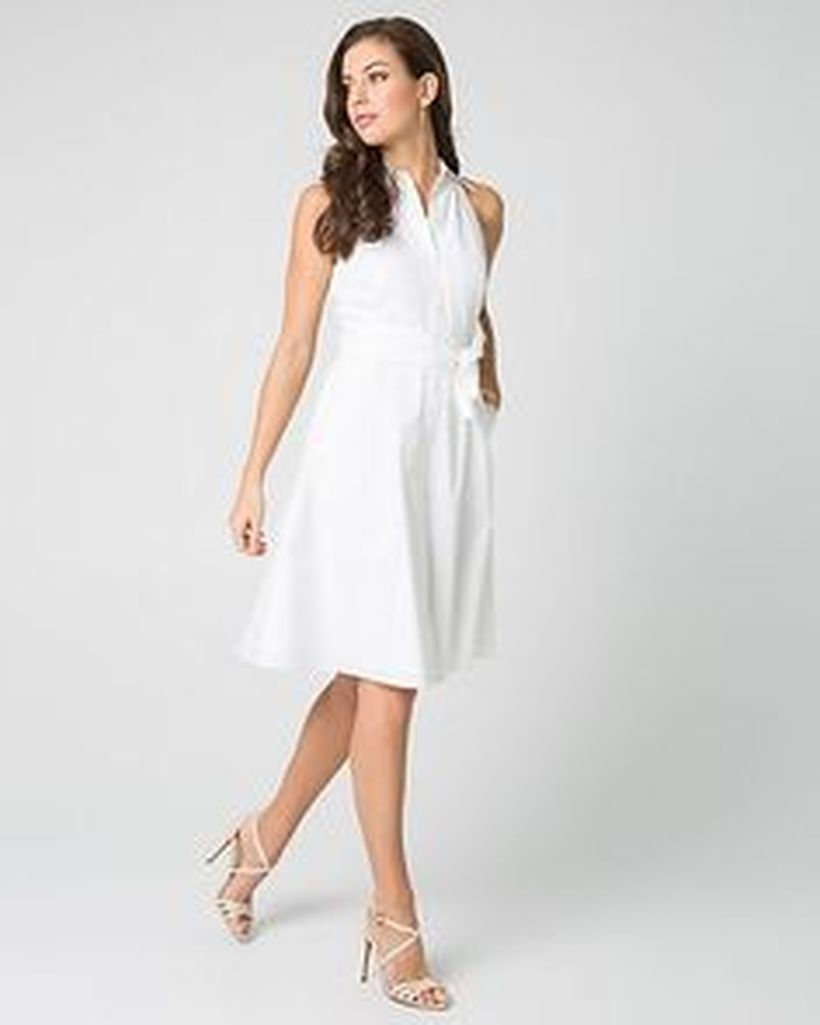 Gorgeous white shirtdresses for summer and spring outfits 28