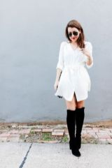 Gorgeous white shirtdresses for summer and spring outfits 30