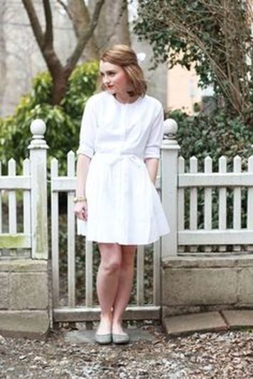 Gorgeous white shirtdresses for summer and spring outfits 39