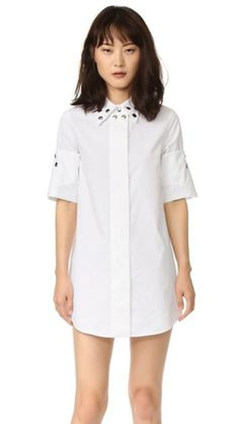Gorgeous white shirtdresses for summer and spring outfits 44