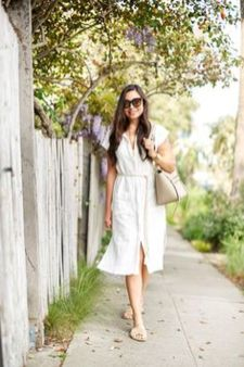Gorgeous white shirtdresses for summer and spring outfits 5