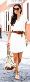 Gorgeous white shirtdresses for summer and spring outfits 66
