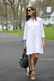Gorgeous white shirtdresses for summer and spring outfits 9