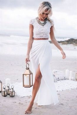Gorgeous white two piece outfits ideas 30
