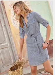 Marvelous striped shirtdresses outfits ideas 17