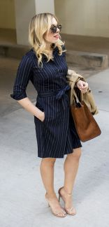 Marvelous striped shirtdresses outfits ideas 23