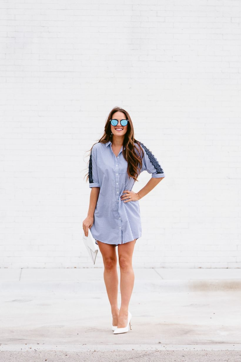 Marvelous striped shirtdresses outfits ideas 28