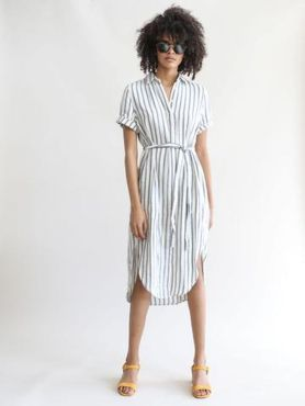 Marvelous striped shirtdresses outfits ideas 31