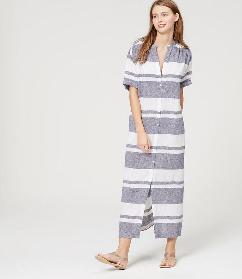 Marvelous striped shirtdresses outfits ideas 34